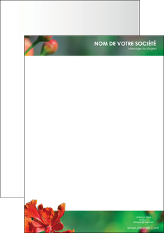 imprimer tete de lettre fleuriste et jardinage nature colore couleurs MLGI34931