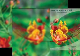 imprimer pochette a rabat fleuriste et jardinage nature colore couleurs MLGI34935