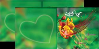 exemple depliant 2 volets  4 pages  nature colore couleur MLGI34941
