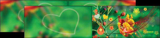 imprimer depliant 2 volets  4 pages  fleur naissance nature MLIG34949