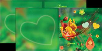 modele en ligne depliant 2 volets  4 pages  fleur naissance nature MLIG34957