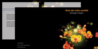 personnaliser maquette depliant 2 volets  4 pages  fleuriste et jardinage fleurs printemps jardin MLIG35135