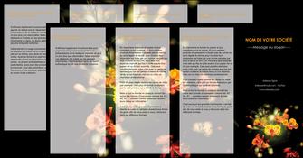 modele depliant 4 volets  8 pages  fleuriste et jardinage fleurs printemps jardin MLIG35145