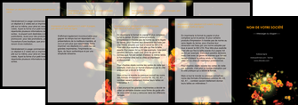 maquette en ligne a personnaliser depliant 4 volets  8 pages  fleuriste et jardinage fleurs printemps jardin MLIG35149