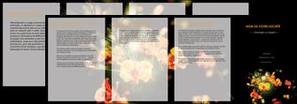 imprimer depliant 4 volets  8 pages  fleuriste et jardinage fleurs printemps jardin MLIG35151