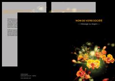 faire modele a imprimer depliant 2 volets  4 pages  fleuriste et jardinage fleurs printemps jardin MLIG35153
