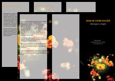 exemple depliant 3 volets  6 pages  fleuriste et jardinage fleurs printemps jardin MLIG35159