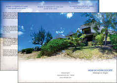 realiser depliant 3 volets  6 pages  sejours agence immobilier ile maurice villa MIS35189