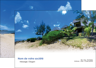 imprimer flyers sejours agence immobilier ile maurice villa MIS35191