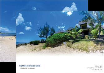 personnaliser modele de affiche sejours agence immobilier ile maurice villa MIS35195
