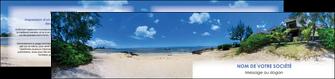 maquette en ligne a personnaliser depliant 2 volets  4 pages  sejours agence immobilier ile maurice villa MIS35205