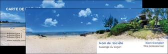 impression carte de visite sejours agence immobilier ile maurice villa MIS35213