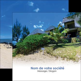 personnaliser modele de flyers sejours agence immobilier ile maurice villa MIS35215