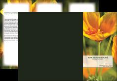 modele depliant 3 volets  6 pages  fleuriste et jardinage fleurs nature printemps MLGI35957