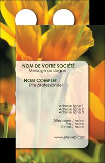 personnaliser maquette carte de visite fleuriste et jardinage fleurs nature printemps MLGI35959
