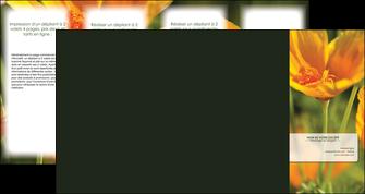 maquette en ligne a personnaliser depliant 4 volets  8 pages  fleuriste et jardinage fleurs nature printemps MLGI35961