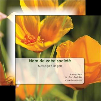 imprimerie flyers fleuriste et jardinage fleurs nature printemps MLGI35967