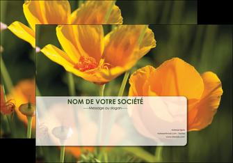 maquette en ligne a personnaliser affiche fleuriste et jardinage fleurs nature printemps MLGI35971