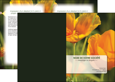 personnaliser modele de depliant 2 volets  4 pages  fleuriste et jardinage fleurs nature printemps MLGI35981