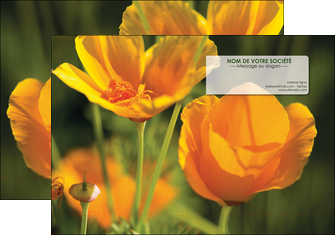 maquette en ligne a personnaliser pochette a rabat fleuriste et jardinage fleurs nature printemps MLGI35991
