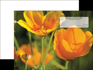 personnaliser maquette pochette a rabat fleuriste et jardinage fleurs nature printemps MLGI35993