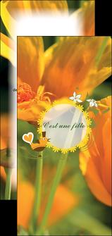 faire modele a imprimer flyers fleurs faire part de naissance jaune MLIG36021