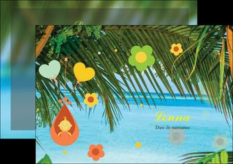 creer modele en ligne flyers mer plage ciel bleu MLGI36045
