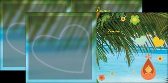 faire modele a imprimer depliant 2 volets  4 pages  mer plage ciel bleu MLGI36047