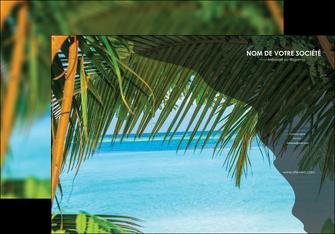imprimerie affiche mer plage nature MLGI36059