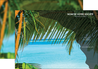 personnaliser modele de affiche mer plage nature MLGI36065