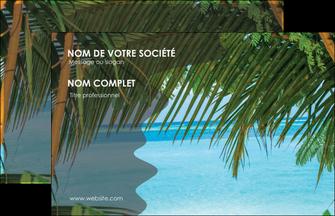 exemple carte de visite mer plage nature MLGI36067