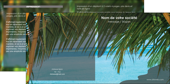 exemple depliant 2 volets  4 pages  mer plage nature MLGI36069