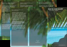 modele depliant 3 volets  6 pages  mer plage nature MLGI36073