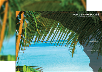 modele affiche mer plage nature MLGI36075
