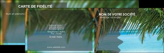 personnaliser maquette carte de visite mer plage nature MLGI36077