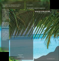 imprimer depliant 2 volets  4 pages  mer plage nature MLGI36079