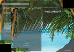 modele en ligne depliant 2 volets  4 pages  mer plage nature MLGI36081