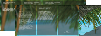 personnaliser maquette depliant 4 volets  8 pages  mer plage nature MLGI36085