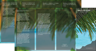 creation graphique en ligne depliant 4 volets  8 pages  mer plage nature MLGI36087