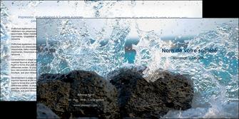 maquette en ligne a personnaliser depliant 2 volets  4 pages  mer rocher nature MLIG36209