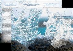 creer modele en ligne depliant 3 volets  6 pages  mer rocher nature MLIG36213