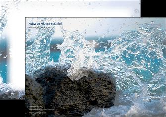 personnaliser maquette affiche mer rocher nature MLIG36219