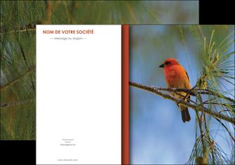maquette en ligne a personnaliser affiche parc oiseaux colore MLGI36295