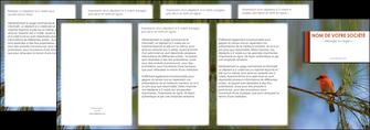 exemple depliant 4 volets  8 pages  parc oiseaux colore MLGI36309
