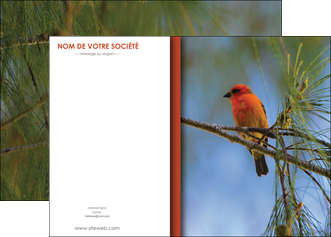 modele affiche parc oiseaux colore MLGI36315