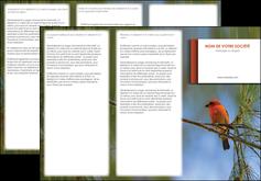 realiser depliant 3 volets  6 pages  parc oiseaux colore MLGI36317