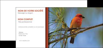 personnaliser maquette carte de correspondance parc oiseaux colore MLGI36321
