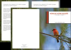 personnaliser modele de depliant 2 volets  4 pages  parc oiseaux colore MLGI36323