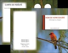 imprimer carte de visite parc oiseaux colore MLGI36325