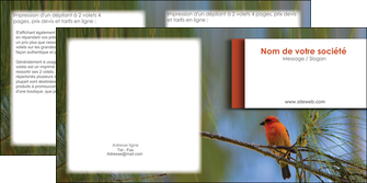 maquette en ligne a personnaliser depliant 2 volets  4 pages  parc oiseaux colore MLGI36329